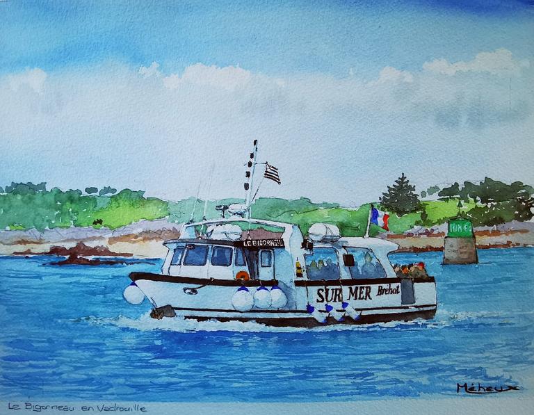 Aquarelle Sur Mer Bréhat