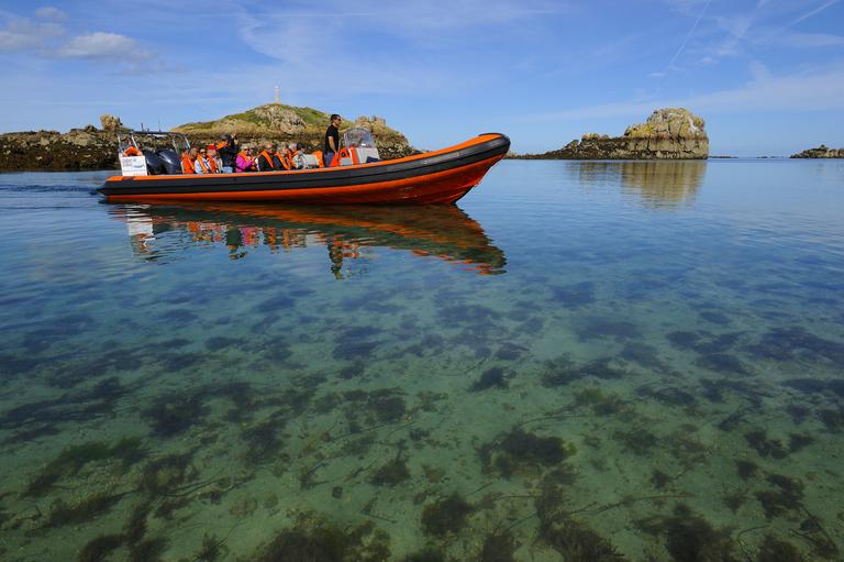 Prestation Tour de l'Île de Bréhat en semi-rigide, Compagnie Sur Mer Bréhat